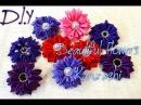 Beautiful Flowers Kanzashi/New Petal/Лепесток Крабик /Цветочки из лент