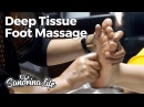 ASMR hypnotic - deep tissue Foot Massage Close Up with coconut oil