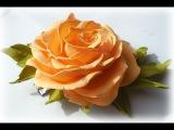 МК Заколка с розой из шелкового фоамирана. Как работать с фоамираном