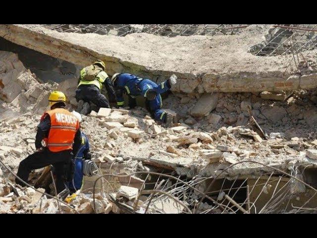 FUERTE SISMO 7.1 SACUDE A MÉXICO, EDIFICIOS TOTALMENTE DESTRUIDOS 19/09/2017