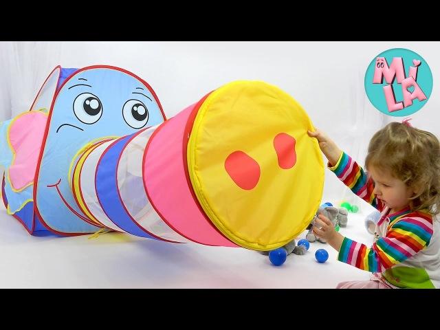 СЛОН который не боится мышей Детская палатка слон Children's elephant play tent