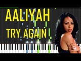 Aaliyah - Try Again Piano Tutorial - Chords - How To Play - Cover