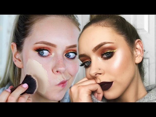 DRAMATIC VAMPY FALL MAKEUP LOOK