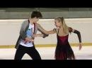 Arina USHAKOVA / Maxim NEKRASOV RUS Ice Dance Free Dance EGNA-NEUMARKT 2017