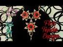 Collar con Flores en Tejido Espiga Alambrismo DIY