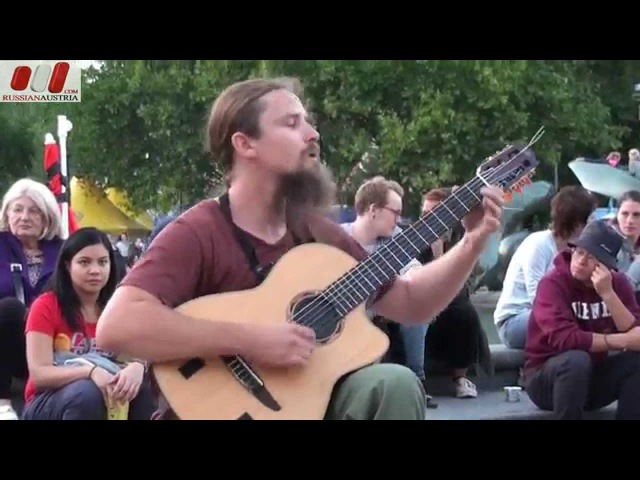 Mariusz Goli (Guitar) Live Busking Vienna Austria «Road Into The Unknown»