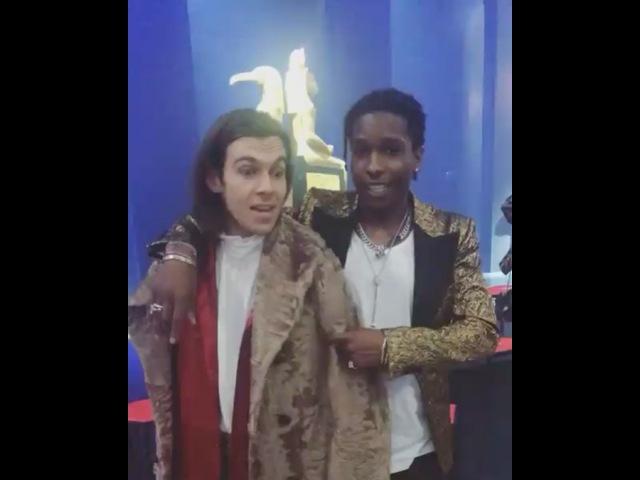 A$AP Rocky на показе новой коллекции Gucci с Джеймсом Райтоном и Стефани Соколински