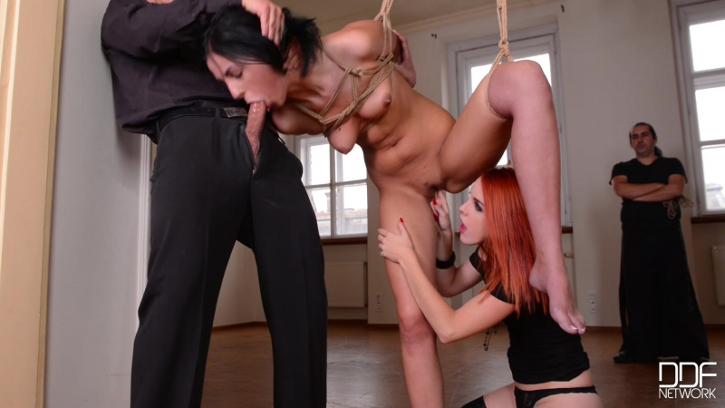 Meg Magic and Amarna Miller Suspended Helpless Anal, Ass Gape, Bondage, Fetish, Threesome, Hardcore, Pussy