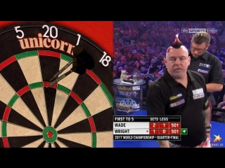 James Wade vs Peter Wright (PDC World Darts Championship 2017 / Quarter Final)