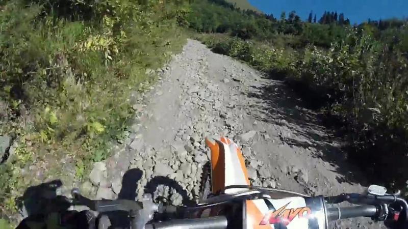 Роман Курбатов ПИТБАЙК КРОСС Поднимаюсь на высоту 2200м на мотоцикле Роза хутор в Сочи