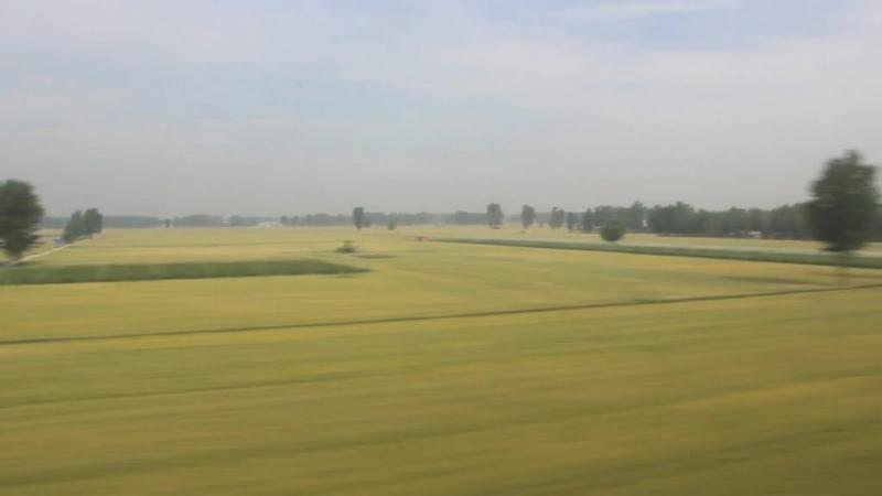 G1560 Провинция Хэнань из окна скоростного поезда.