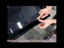Тонирование лобового стекла Калина 2 съемной тонировкой на полиэфирной основе 25%
