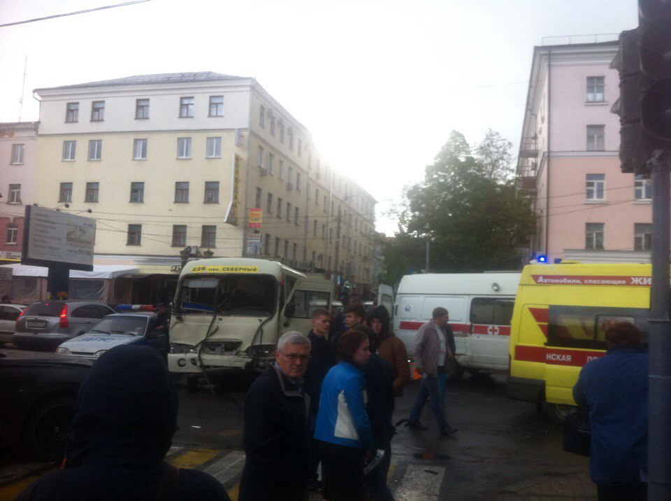 На улице Ленина произошло ДТП с участием маршрутки