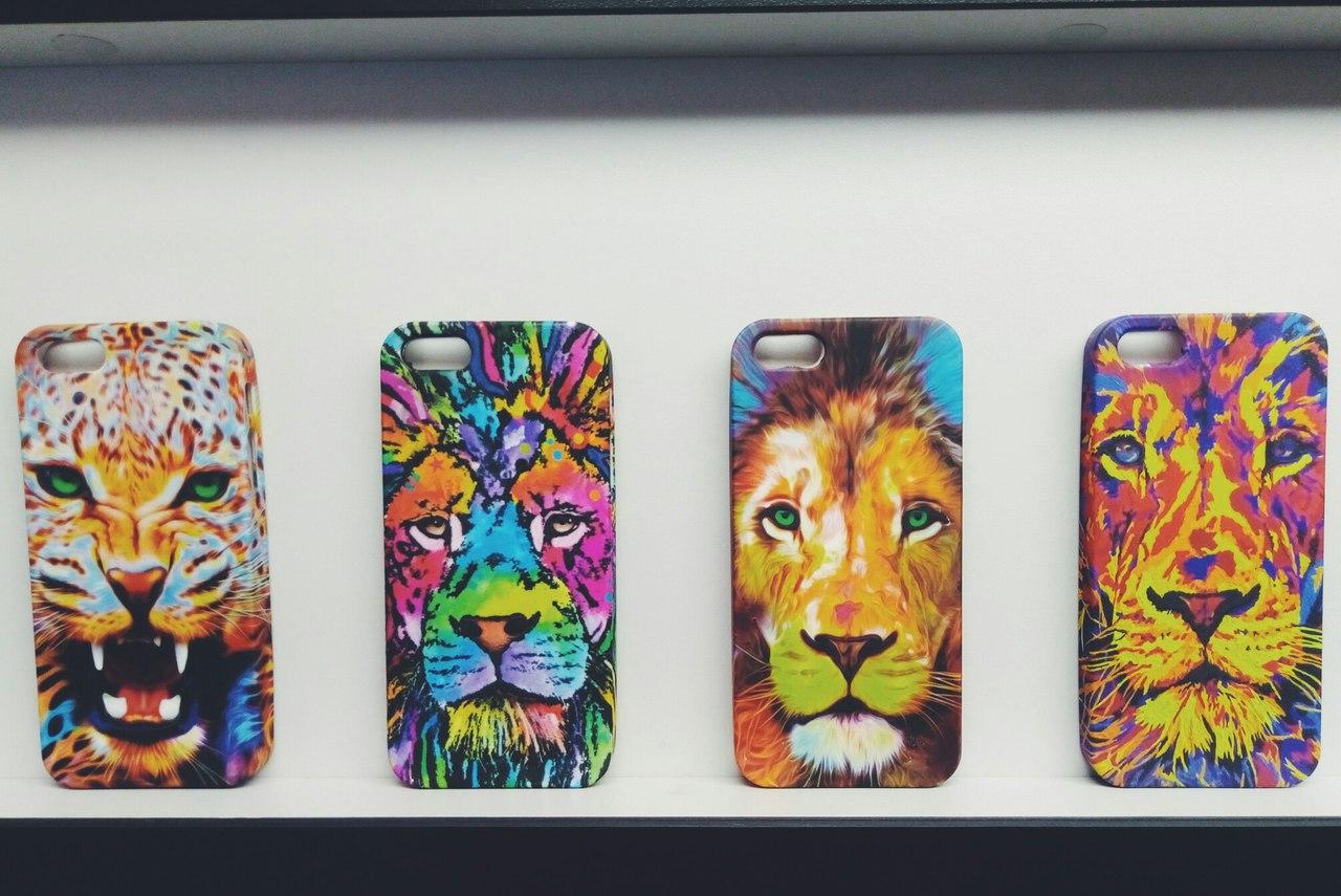 Чехол силиконовый Luxo Face Lion Yellow для iPhone 5/5s