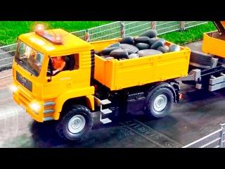 Der Stadt Autos - Der gelbe Lastwagen und Der Traktor - Lehrreicher Zeichentrickfilm für Kinder