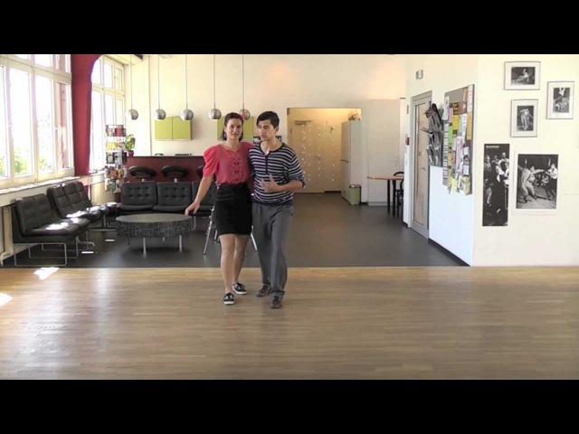 How to Lead and Follow Triple Steps in Lindy Hop, with Ali and Katja from Swing Step