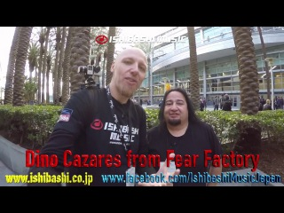 Dino Cazares from Fear Factory interview NAMM 2017 with Ishibashi Music