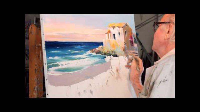 Christian Jequel technique Jequel de peinture au couteau
