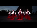 Russian folk dance in Siberia. Artists of LED show