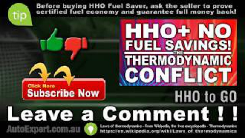 HHO KIT Plus Shocking No Fuel Savings In Thermodynamic Conflict ! !