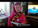 Child Abuse in Ukraine; Girl Taught to Sieg Heil, Chant 'I Will Cut Russians'