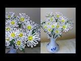 Цветы из бисера РОМАШКИ из бисера СВОИМИ РУКАМИ МАСТЕР-КЛАСС