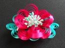 Bow-flower from a narrow ribbon DIY/Tutorial Bow-flor/Бант-цветок из узкой ленты МК