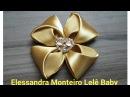 DIY Flor de Cetim 🌹🌹 Elessandra Monteiro Lelê Baby V 51