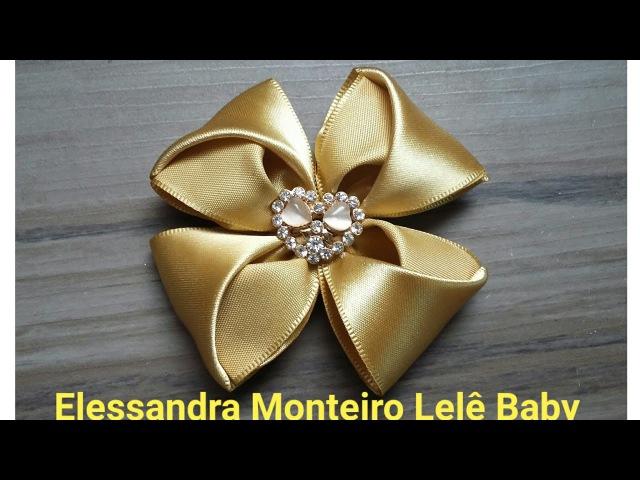 DIYFlor de Cetim!!🌹🌹|Elessandra Monteiro Lelê Baby V51