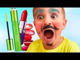 Funny Baby prank, Bad Baby Crying brother got Makeup! Johny Johny Yes Papa Nursery Rhymes bad kids