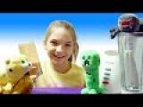 Видео для детей. Майнкрафт Оцелот и Крипер готовят эликсир силы вместе с лучшей  ...