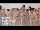 Young Dancers Audition for Nutcracker Pacific Northwest Ballet