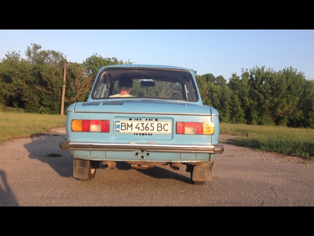 Запуск ЗАЗ 968М. Звук выхлопа. ZAZ Yalta exhaust sound.