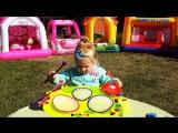 ✿ Кваквафон Battat Диана ИГРАЕТ НА БАРАБАНАХ как Фиксики Барабан Новые Игрушки Баттат Drum New Toys
