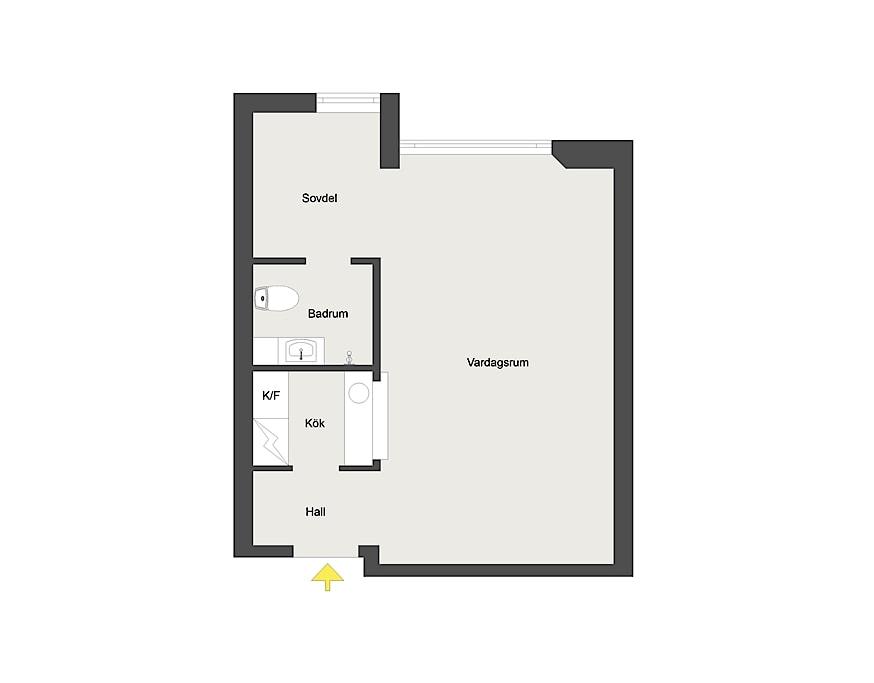 Скандинавский интерьер квартиры-студии 31 м.