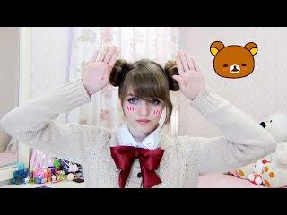 FAST EASY Odango Hairstyle Tutorial / Rilakkuma no mimi / リラックマの耳