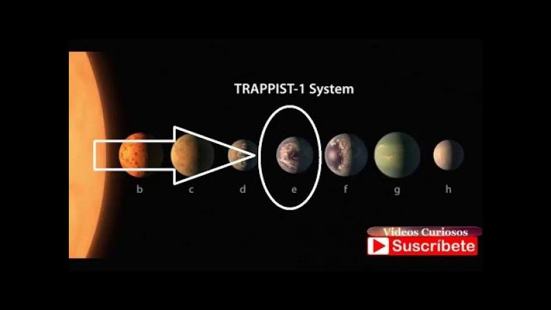 NASA descubre 7 planetas del tamaño de la Tierra, 3 podrían albergar vida 2017
