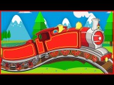 Trains for children - the Train - Mining for gold - Trains for kids - Videos and cartoons
