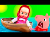Пеппа Маша и Медведь все серии подряд без остановки Мультики про Свинку Пеппу дл...