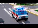 Мультики про Машинки Скорая Полицейская Пожарная Гоночная   3D Мультфильм Сборни...