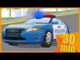 Police Car Partol with The Tow Truck in the City of cars - Cars cartoon for kids &amp children