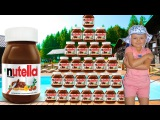 AMAZING NUTELLA CHALLENGE! Little Baby Spiderman &amp Hulk Toys Kids Pepsi Funny Movie in Real Life