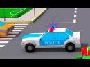 Мультики про Машинки Полицейская машина и Гоночные в городке 3D Мультфильм Сборн...