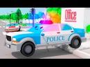 Pequeño Coche de Policía Carritos para niños 3D Dibujo animado infantiles