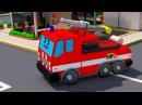 Çizgi Film Kırmızı itfaiye kamyonu Sağ ve Sol öğreniyoruz