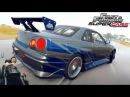 На пределе Nissan Skyline GTR R34 Брайана О'Коннера фул тюнинг Forza Horizon 2 Fast Furious 2