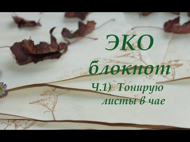 Скрапбукинг МК ЭКО блокнот Часть 1 Тонирую листы в чае