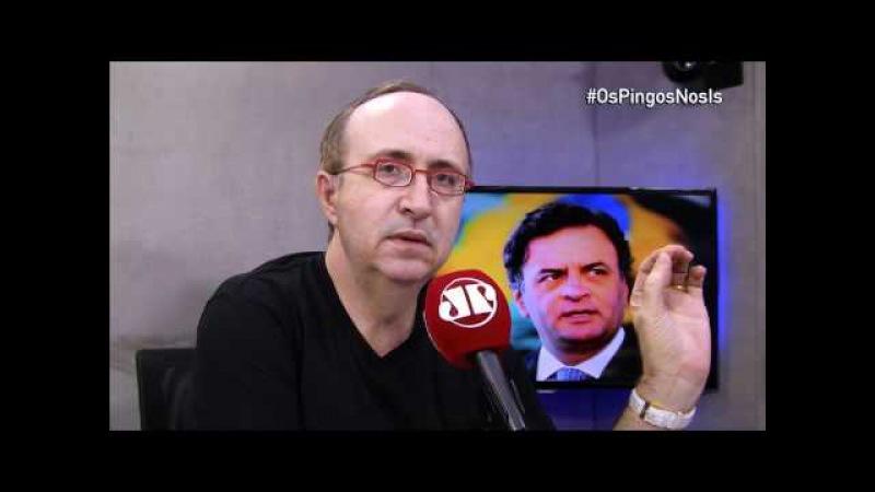 O que veio a público não tem crime nenhum, diz Reinaldo Azevedo sobre caso Aécio