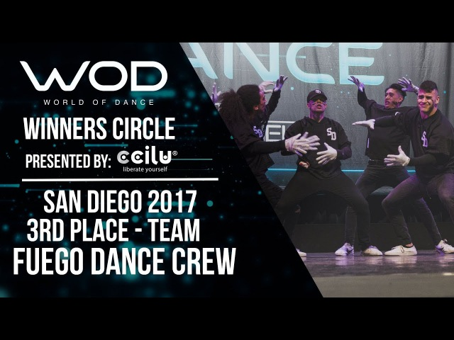 Fuego Dace Crew | 3rd Place Team Division | Winner's Circle | World of Dance San Diego | WODSD17