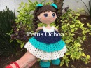 Como tejer en amigurumi brazos y cabeza muñeca Alexa By Petus TERCERA PARTE